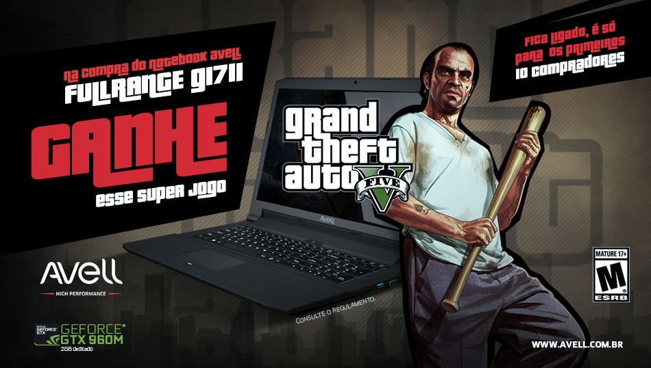 Notebook Gamer FullRange G1711 GTA V