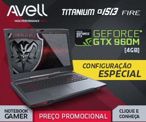 Avell Titanium G1513 Fire com Preço Promocional