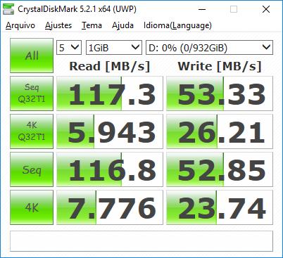 CrystalDiskMark: SSHD