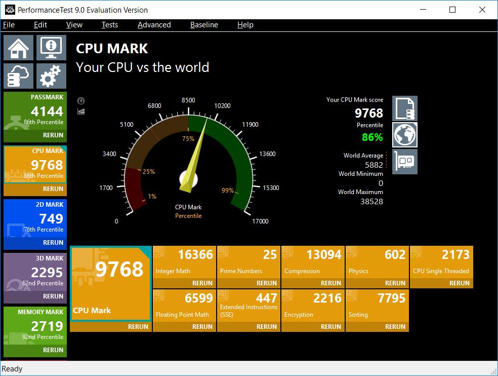 passcpu benchmarks CPU