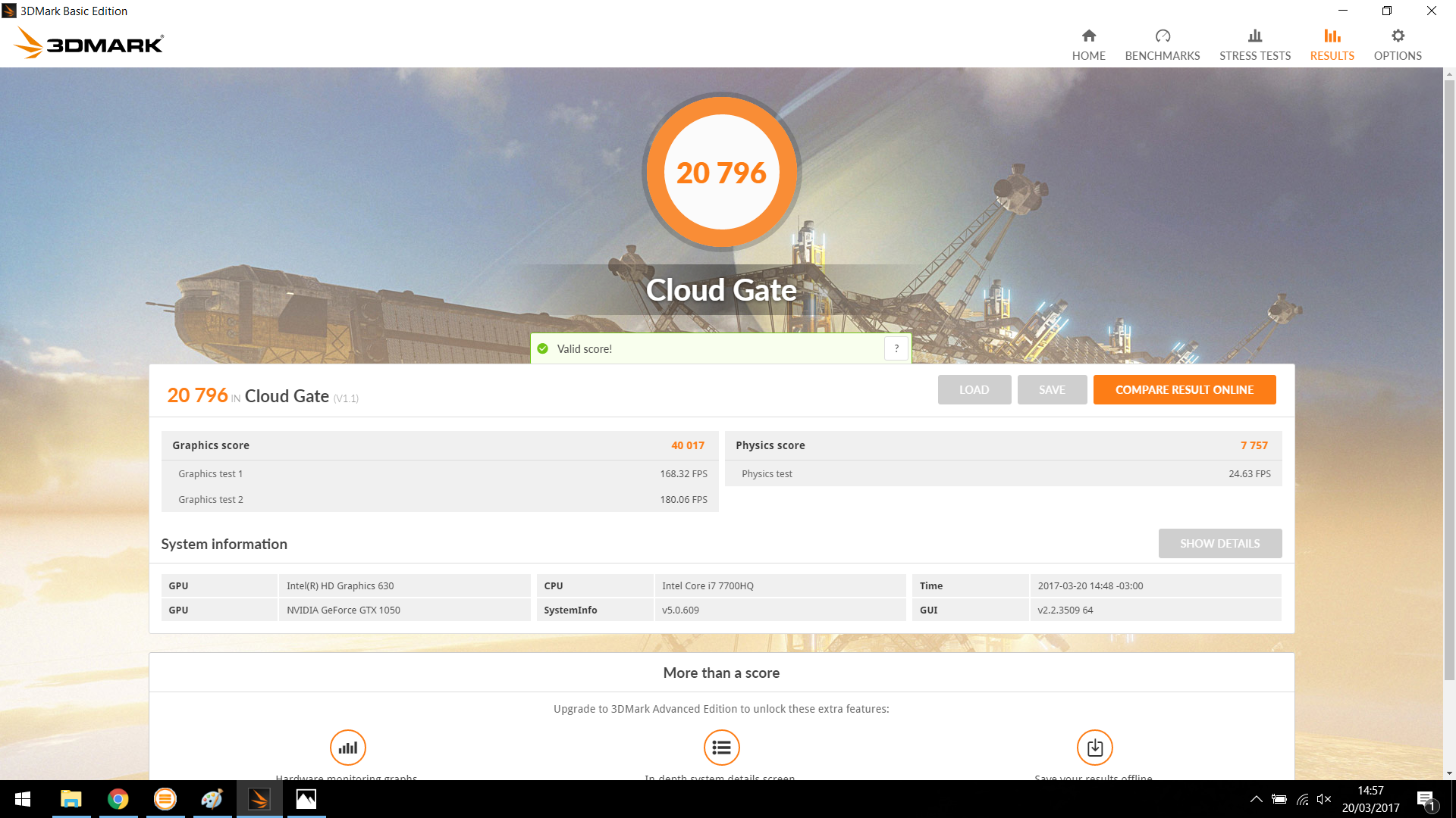 3dmark cloud gate benchmarks de gpu