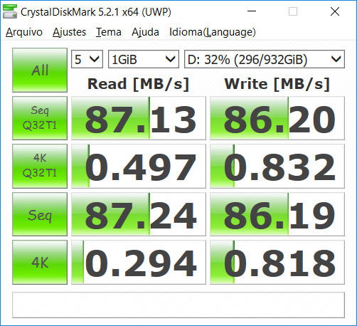 CrystalDiskMark: HD