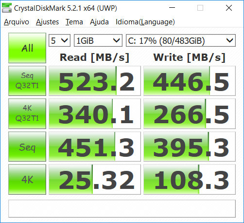 CrystalDiskMark: SSD