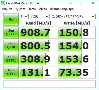 CrystalDiskMark Benchmark Optane