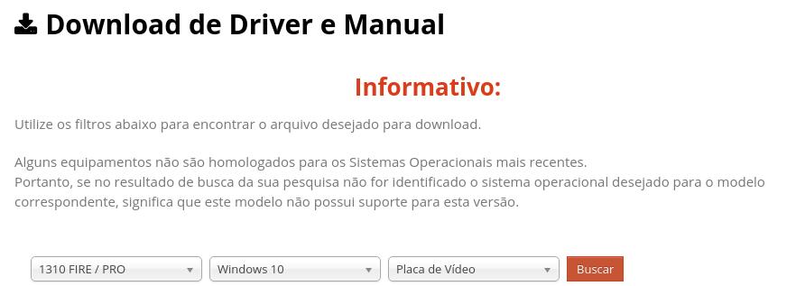 download de driver e manual