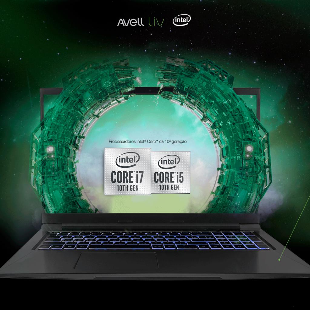 Notebooks com processadores Intel Core de 10ª geração